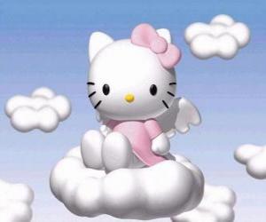 Puzle Hello Kitty letěl přes mrak