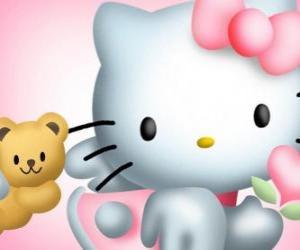 Puzle Hello Kitty s ní medvídek Tiny Chum