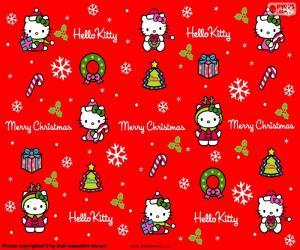 Puzle Hello Kitty vánoční