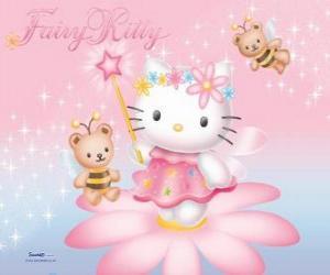 Puzle Hello Kitty, zahradní víla