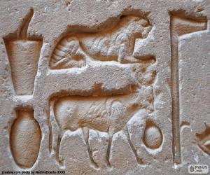 Puzle Hieroglyfické rytiny