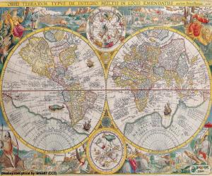Puzle Historická mapa na světě