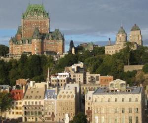 Puzle Historické čtvrti starého Quebec, Kanada