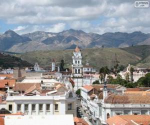Puzle Historické město Sucre, Bolívie