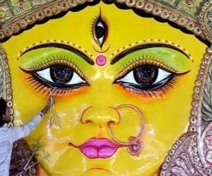 Puzle Hlava bohyně Durga, jeden z aspektů Parvati