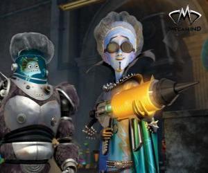Puzle Hlavní postava, zlý cizinec Megamind s Poskok, ryby moudrý