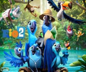 Puzle Hlavní postavy filmu Rio 2