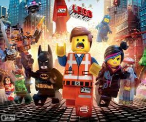 Puzle Hlavní postavy z filmu Lego
