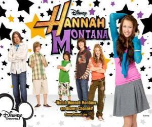 "Puzle Hlavní postavy z Hannah Montana, Miley Ray Stewart, Lillian ""Lilly"" Truscott, Oliver Oken, Rod Stewart Jackson, Robby Ray Stewart a Rico Suave"