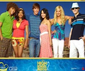 Puzle Hlavní postavy z High School Musical 2
