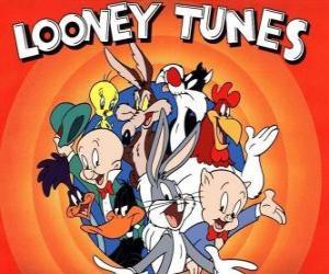 Puzle Hlavními postavami Looney Tunes