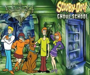 Puzle Hlavními postavami Scooby-Doo