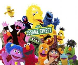 Puzle Hlavními postavami Sesame Street