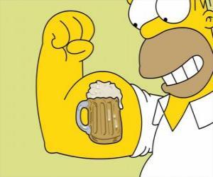 Puzle Homer Simpson pyšný na svou sílu