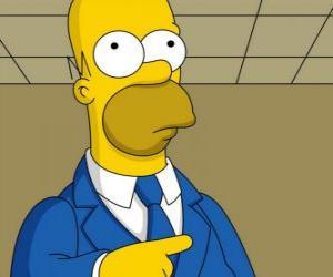 Puzle Homer Simpson velmi elegantní