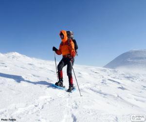 Puzle Horolezec během přechodu