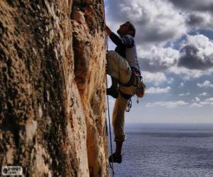 Puzle Horolezec stoupání