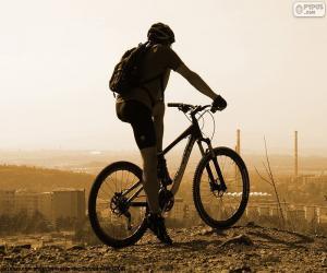 Puzle Horské kolo cyklista