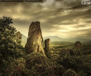 Puzle Hory Meteora, Řecko