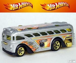 Puzle Hot Wheels autobusem