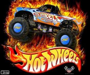 Puzle Hot Wheels Monster Truck v akci