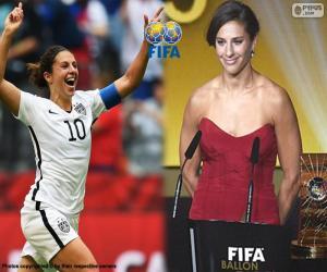 Puzle Hráč světa 2015 ve fotbale žen