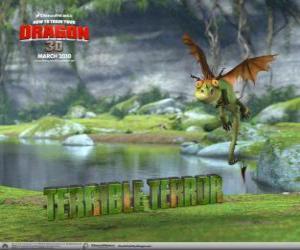 Puzle Hrůzák Hrozivý, nejmenší drak