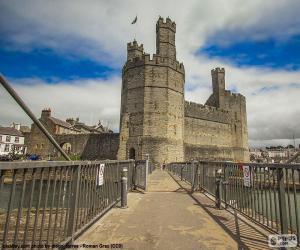 Puzle Hrad Caernarfon, Walesu