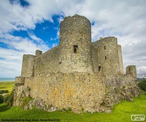 Puzle Hrad Harlech, Wales