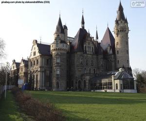 Puzle Hrad Moszna v Polsku