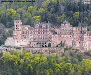 Puzle Hradu Heidelberg, Německo