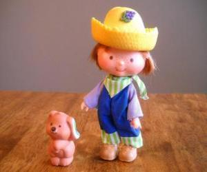Puzle Huckleberry Pie hrát se svým psem Pupcake pet. On je jeden z Jahůdka přítelem
