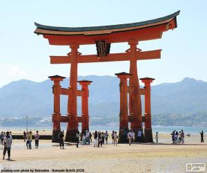 Puzle Icukušimská brána torii, Japonsko