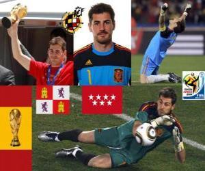 Puzle Iker Casillas (svatý Móstoles) španělského týmu brankáře nebo brankáře
