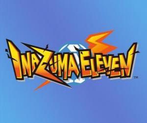 Puzle Inazuma Jedenáct logo. Nintendo Videohry a anime manga