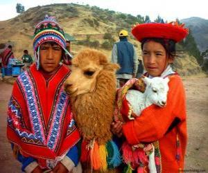 Puzle Inca tradiční šaty