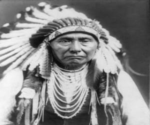 Puzle Indiánského náčelníka tvář