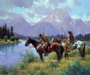 Puzle Indický bojovníci na koních