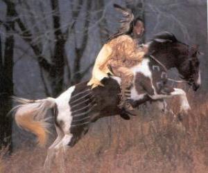 Puzle Indický bojovník na koni