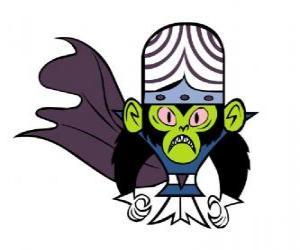 Puzle Inteligentní opice Mojo Jojo, je největším nepřítelem Utonium sestry, Powerpuff Girls