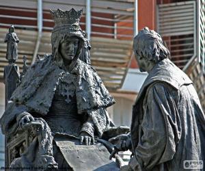 Puzle Isabel la Católica a Kryštof Kolumbus