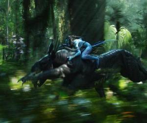 Puzle Jake koni okřídlené zvíře známé jako toruk, nejnebezpečnější stvoření Pandory.