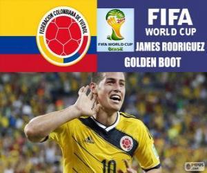 Puzle James Rodriguez, Zlatá kopačka. Brazílie 2014 mistrovství světa ve fotbale
