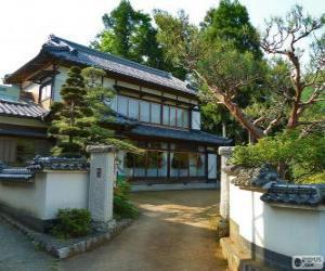 Puzle Japonské tradiční dům