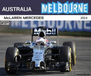 Puzle Jenson Button - McLaren - Grand Prix Austrálie 2014, 3 klasifikované