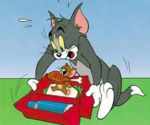 Puzle Jerry jí Tom pikniku