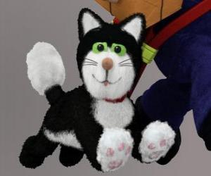 Puzle Jess kočka je černá a bílá kočka, která vždy doprovází pošťák Pat