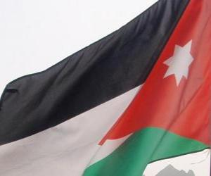 Puzle Jordánská vlajka