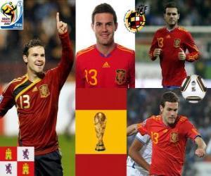 Puzle Juan Mata (kotník Magic) španělského národního týmu vpřed
