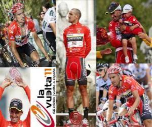 Puzle Juanjo Cobo (GEOX), vítěz Tour Španělska 2011